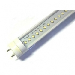 Tubo neon T8 18 W a 132 LED SMD ( 2835 ) 1.20 mt. Bianco Caldo. Cover trasparente
