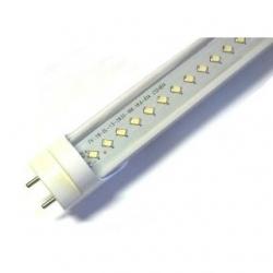 Tubo neon T8 18 W a 132 LED SMD ( 2835 ) 1.20 mt. Bianco Naturale. Cover trasparente
