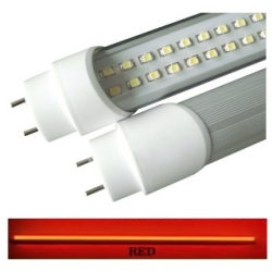Tubo neon T8 18 W a 288 LED SMD 3528 1.20 mt. Rosso