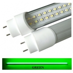 Tubo neon T8 18 W a 288 LED SMD 3528 1.20 mt. Verde