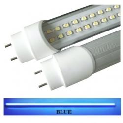 Tubo neon T8 18 W a 288 LED SMD 3528 1.20 mt. Blu